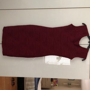 Wine color midi bodycon